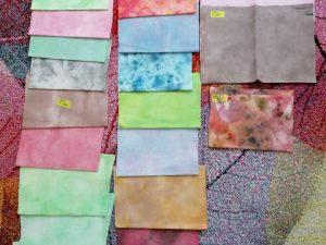ručne farbené látky