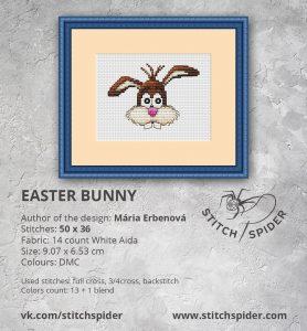 Easter Bunny cross stitch pattern - stitchspider