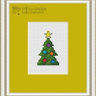 Vianočný stromček - predloha na vyšívanie
