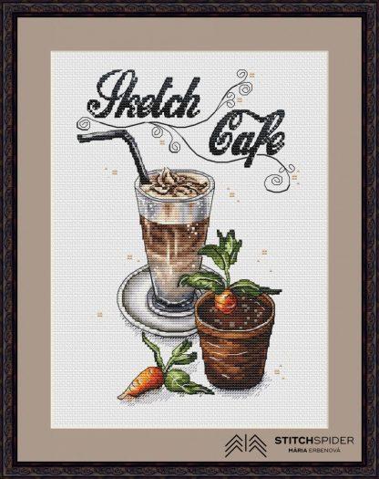 Káva v hnedom ráme