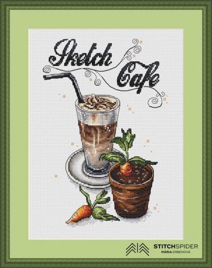 Káva v zelenom ráme